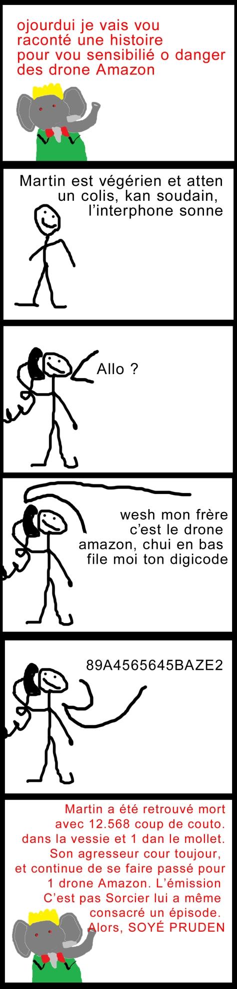 danger drone